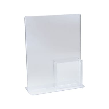 IDL Displays Tru-Vu T-Style Combo Literature Holder & Brochure Pocket, 2/Pack