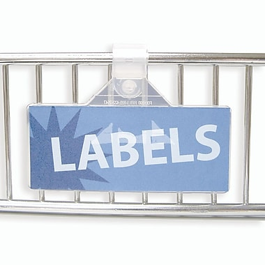 IDL Displays Fold-N'Hold Label Holder, 25/Pack