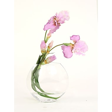 Distinctive Designs Silk Iris Disc Vase