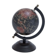 Woodland Imports Elegant Metal Wood Globe with Contemporary Elegance