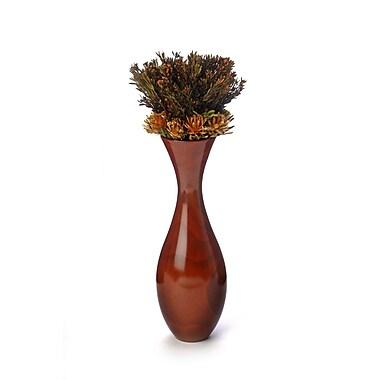 Distinctive Designs Dried Flowers Biedermeier Styled Autumn Plumosum in Flared Wood Vase