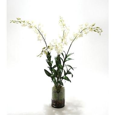 Distinctive Designs Waterlook Silk Arrangement in Cylinder; White