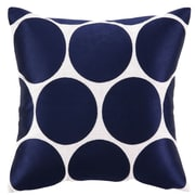 Sis Boom by Jennifer Paganelli Erin Embroidered Linen Throw Pillow; Blue