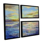 ArtWall Florida Sunrise by Michael Creese 3 Piece Floater Framed Painting Print on Canvas Set
