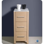 Fresca Torino 12'' W x 31.1'' H Cabinet; Light Oak
