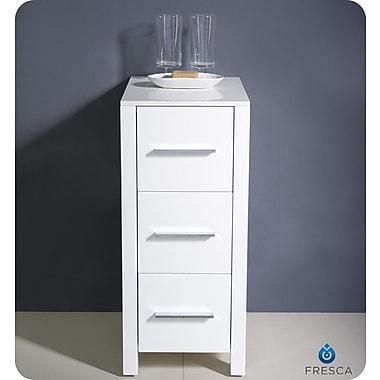 Fresca Torino 12'' x 31.1'' Bathroom Linen Side Cabinet; White