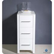 Fresca Torino 12'' W x 31.1'' H Cabinet; White