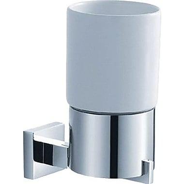 Kraus Aura Wall Mount Ceramic Tumbler Holder; Chrome