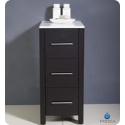 Fresca Torino 12'' W x 31.1'' H Cabinet; Espresso