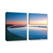 ArtWall Sea And Surf by Steve Ainsworth 3 Piece Photographic Print on Gallery Wrapped Canvas Set