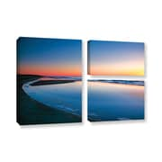 ArtWall Sea And Sand Ii by Steve Ainsworth 3 Piece Photographic Print on Gallery Wrapped Canvas Set