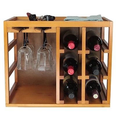 Elegant Home Fashions 6 Bottle Tabletop Wine Rack WYF078276730433