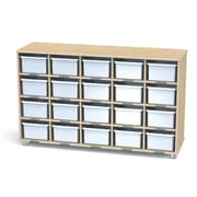Jonti-Craft TrueModern 20 Compartment Cubby; Transparent