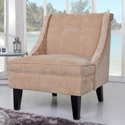 Gold Sparrow Kansas Wingback Slipper Chair; Tan