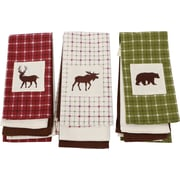 DEI Woodland River 3 Piece Cotton and Embellished Dish Towel Set