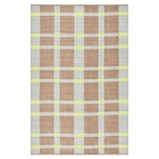 Thom Filicia Rugs Thom Filicia Saddle Lawn Green/Brown Indoor/Outdoor Rug; Runner 2' X 6'