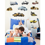Wallhogs Construction Vehicles Multi-Pack Wall Decal