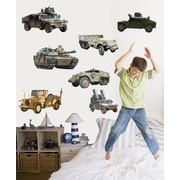 Wallhogs Military Ground Vehicle Multi-Pack Cutout Wall Decal