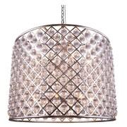 Elegant Lighting Madison 12 Light Drum Pendant; Polished Nickel