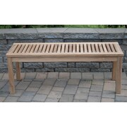 Arbora Teak Calcutta Backless Solid Teak Picnic Bench; 17'' H x 60'' W x 16'' D