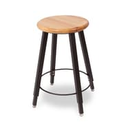 WB Manufacturing Adjustable Height Round Hardwood Seat 4 Leg Stool; 22 - 32''