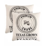 Pegasus Home Fashions Texas Grown Cotton Throw Pillow (Set of 2)