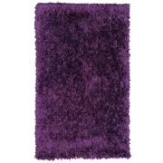 Lanart Rug Dragonfly Purple Shag Area Rug; 5' x 7'6''
