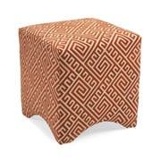 Woodland Imports Marisa Graphic Ottoman; Orange