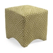 Woodland Imports Marisa Graphic Ottoman; Green