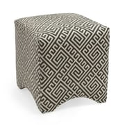 Woodland Imports Marisa Graphic Ottoman; Gray