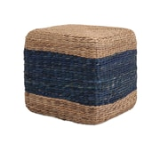 Woodland Imports Hien Hyacinth Stool; Blue