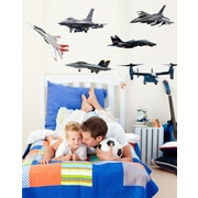 Wallhogs Military Aircraft Multi-Pack I Wall Decal