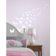 Wallhogs Glow-in-the-Dark Butterflies Dragonfly Wall Decal