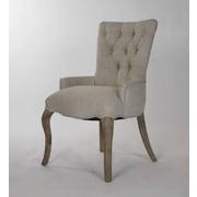 Zentique Inc. Iris Tufted Arm Chair; Grey