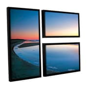ArtWall Sea And Surf by Steve Ainsworth 3 Piece Floater Framed Photographic Print on Canvas Set