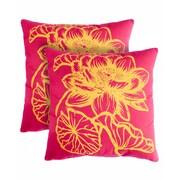 Pegasus Home Fashions Fleur Cotton Throw Pillow (Set of 2)