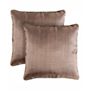 Pegasus Home Fashions Bling Shimmering Throw Pillow (Set of 2); Walnut