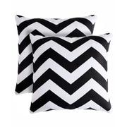 Pegasus Home Fashions Rockford Zig Zag Throw Pillow (Set of 2); Black