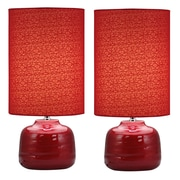 Aspire Tessa 23'' H Table Lamp with Drum Shade (Set of 2)