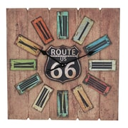 Aspire Oversized 24'' Atkins Route 66 Wall Clock