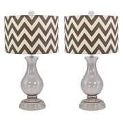 Aspire Rowley 24'' H Table Lamp with Drum Shade (Set of 2)