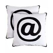 Pegasus Home Fashions Alpha Throw Pillow (Set of 2)
