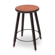 WB Manufacturing Adjustable Height Round Laminate Armor Edge Seat 4 Leg Stool; 22 - 32''