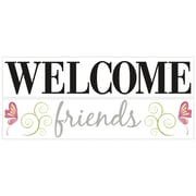 Wallhogs Welcome Friends Quote Wall Decal