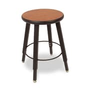 WB Manufacturing Adjustable Height Round Laminate Armor Edge Seat 4 Leg Stool; 18 - 28''