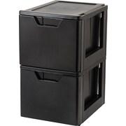 IRIS® Premier Stacking File Storage Drawer, 2 Pack (122090)