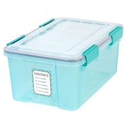 IRIS® 19 Quart Weathertight Keepsake Storage, Seafoam, 6 Pack (110384)