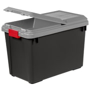 IRIS® 25 Gallon Store It All Tote with Compartment Lid, 4 Pack (250194)