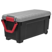 IRIS® 42 Gallon Heavy Duty Storage Trunk with Wheels, 2 Pack (250084)