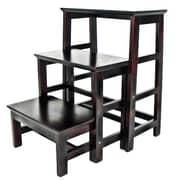 Wayborn 3-Step Wood Retractable Step Stool w/ 200 lb. Load Capacity